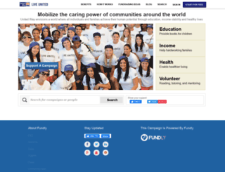 unitedwayworldwide.fundly.com screenshot
