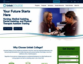 unitekcollege.edu screenshot