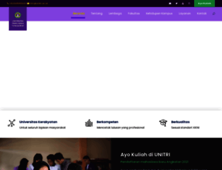 unitri.ac.id screenshot