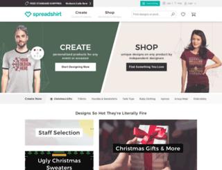unity.spreadshirt.com screenshot