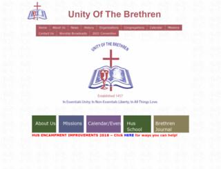 unityofthebrethren.org screenshot