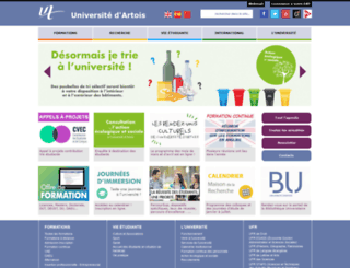 univ-artois.fr screenshot
