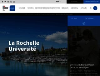 univ-larochelle.fr screenshot