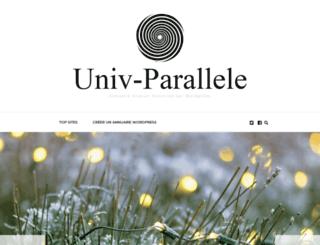 univ-parallele.com screenshot