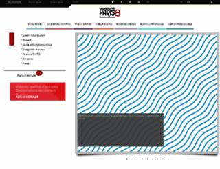 univ-paris8.fr screenshot