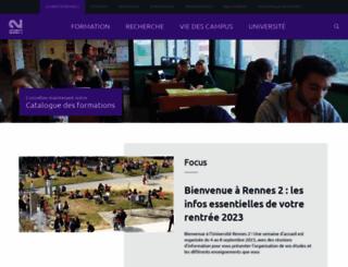 univ-rennes2.fr screenshot
