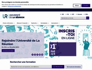 univ-reunion.fr screenshot