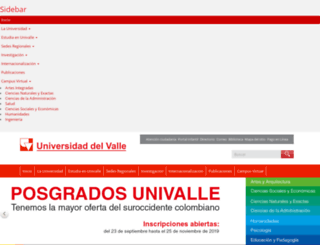 univalle.edu.co screenshot