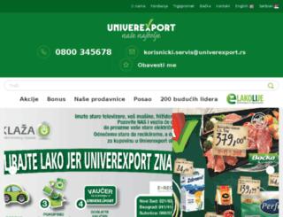 univerexport.rs screenshot