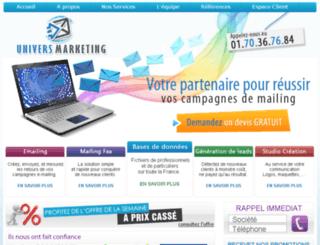 univers-marketing.fr screenshot