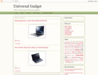 universal-gadget.blogspot.com screenshot