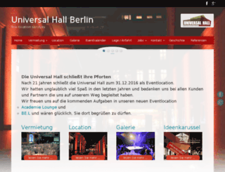 universal-hall.de screenshot