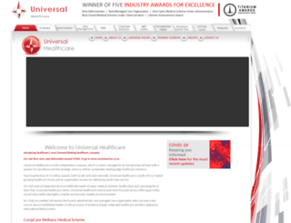 universal.co.za screenshot