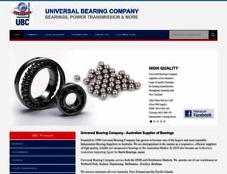 universalbearings.com.au screenshot