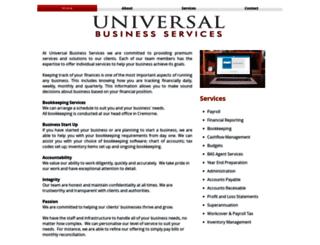 universalbusiness.com.au screenshot