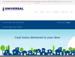 universalcashloans.co.uk screenshot