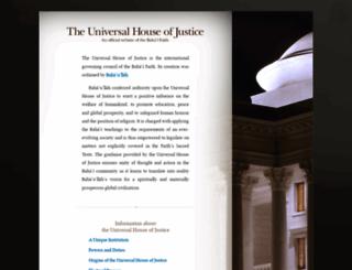 universalhouseofjustice.bahai.org screenshot