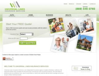 universallinesins.com screenshot