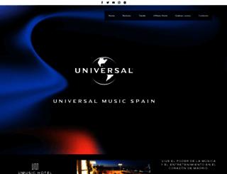 universalmusic.es screenshot