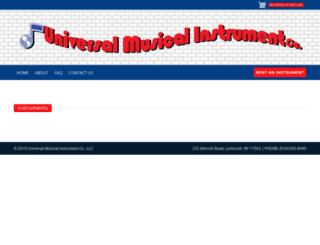 universalmusicalinstrumentco.com screenshot