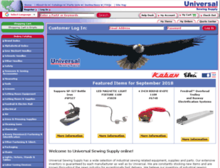universalsewing.com screenshot