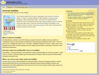 universalusability.com screenshot