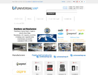 universalvap.com screenshot