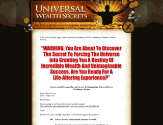 universalwealthsecrets.com screenshot