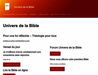 universdelabible.net screenshot
