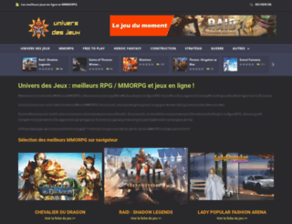universdesjeux.fr screenshot