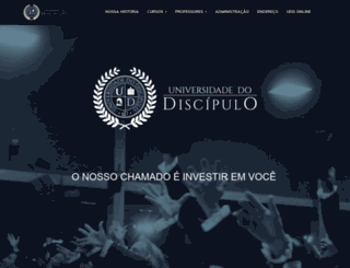 universidadedodiscipulo.com screenshot
