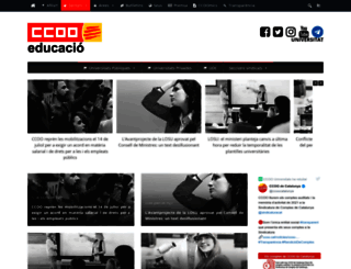 universitats.ccoo.cat screenshot