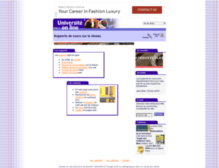 universite.online.fr screenshot