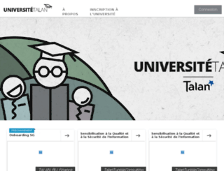 universite.talan.fr screenshot
