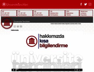 universitetercihleri.com screenshot