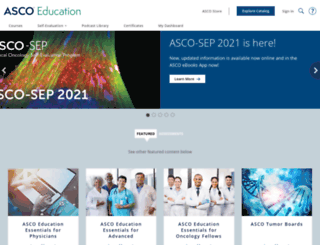 university.asco.org screenshot