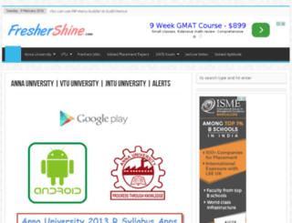 university.freshershine.com screenshot