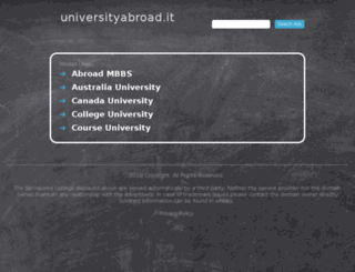 universityabroad.it screenshot