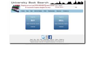 universitybooksearch.co.uk screenshot