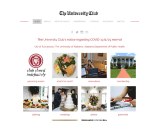universityclub.ua.edu screenshot