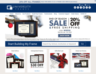 universityframes.com screenshot