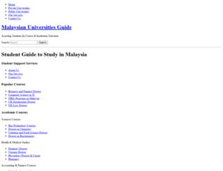 universitymalaysia.net screenshot