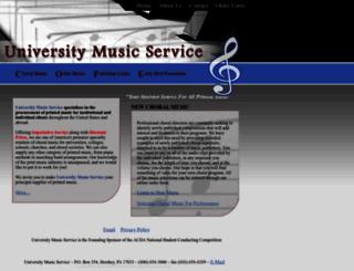 universitymusic.com screenshot