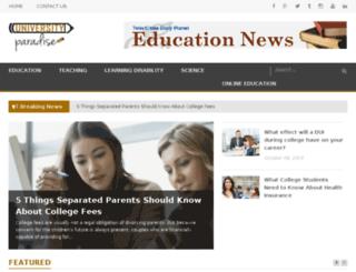 universityparadise.com screenshot