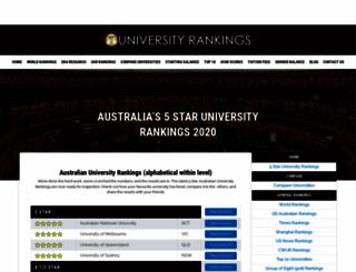 universityrankings.com.au screenshot