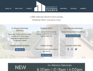 universityreformedchurch.org screenshot
