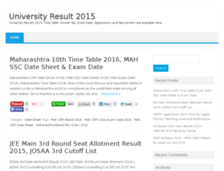 universityresult2015.in screenshot