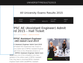 universityresults2015.in screenshot
