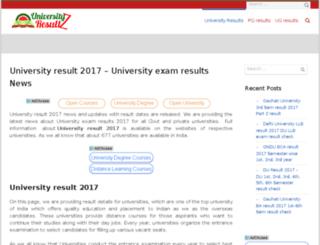 universityresultz.in screenshot