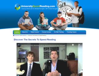 universityspeedreading.com screenshot